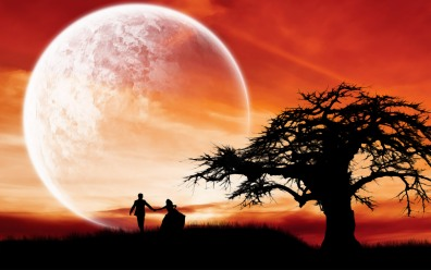 hd-love-couple-wallpaper-supermoon-romantic-night-wide